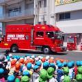 【ひまわり組】消防見学でかっこいい消防訓練を見たよ!