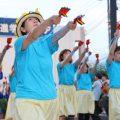 【大井祭り】鮮やかブルーのひまわり踊り子隊♪